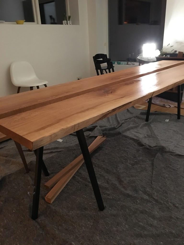 gamle planker til bordplate